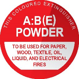 Wall sign for ABE Fire Extinguisher