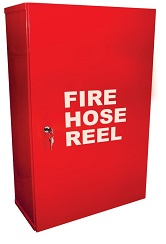 Fire Hose Reel Cabinet with Keys