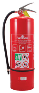 Portable fire extinguisher - air/water