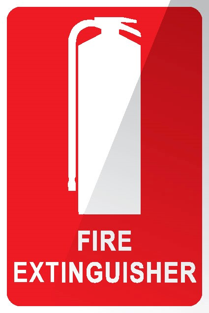 Wall sign for Fire extinguisher Location