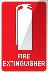 Fire Extinguisher Location Sign