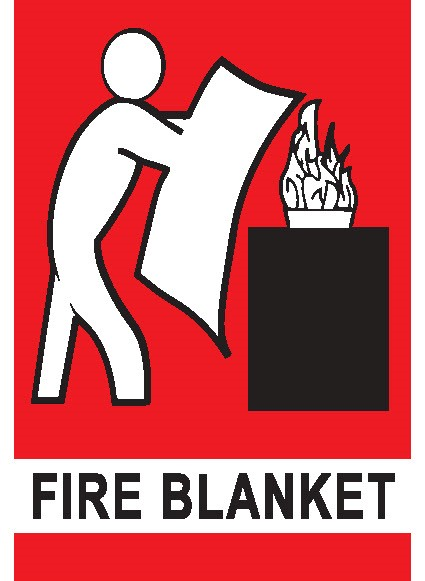 Wall sign for location of Fire Blanket
