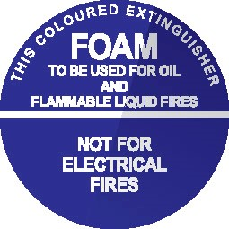 Wall sign for Foam fire extinguisher