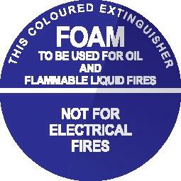 Foam Fire Extinguisher ID sticker
