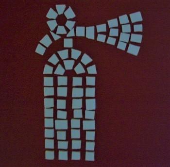 International Fire Extinguisher Sign Greek Mosaic