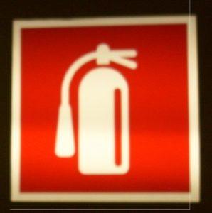 Milan Fire Extinguisher Sign