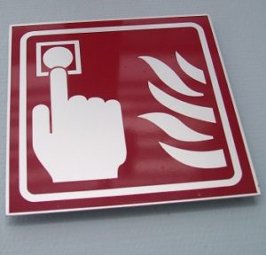Slovenia Fire Safety Sign