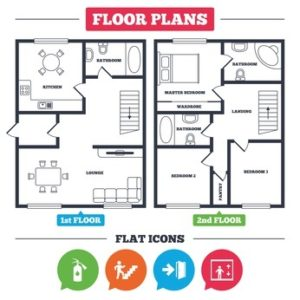 Floor Plan with Safety Icons