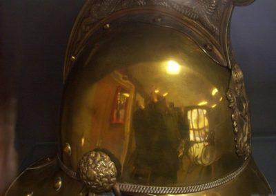 Helmet courtesy of Horsham Museum